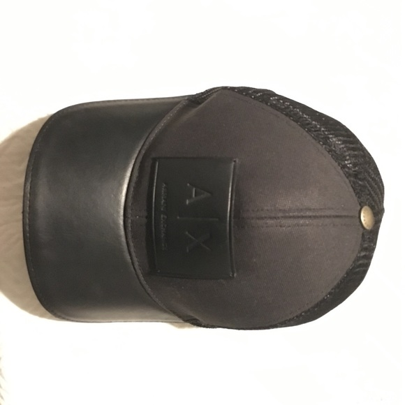 a6787ed1 Armani Exchange Accessories | Ax Leather Patch Mesh Truckerhat ...